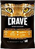 Crave Katzenfutter Trockenfutter Adult 1+ Mit Huhn & Truthahn, 5 Beutel (5 x 750 g), 3750 g