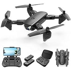 4DRC F6 Drone GPS 4K Telecamera 5G WiFi App Controllo Drone Pieghevole Selfie modalità Seguire, modalità Ritorno Home, Controllo dei Gesti, Volo Circolare, modalità Hovering(Due Batterie e Borsa)