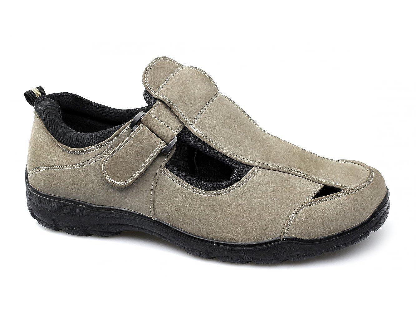 Wide fit sandals shoes uk - Dr Keller Justin Mens Faux Nubuck Velcro Wide Fit Sandals Beige Uk 6 Amazon Co Uk Shoes Bags