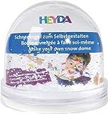 Heyda 204888400 Self-made snow globe made of acrylic
