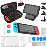 Keten Kit Accessori 13 in 1 per Nintendo Switch, Include Custodia da Trasporto per Nintendo Switch/C...