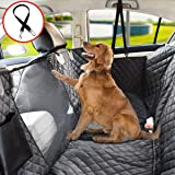Vailge Dog Car Seat Cover for Back Seat 100% Waterproof Dog Cover for Car Seats with Mesh Window, Pet Car Seat Cover for Dog, Side Flaps Car Hammocks for Dogs Scratch Proof for Cars Trucks SUV