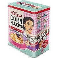 Nostalgic-Art 30147 Boîte de Conservation rétro L, Kellogg's – Happy Hostess – Idée de Cadeau pour la Cuisine, Grande…