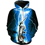 TMHOO Mens Womens Big Size 3D Printed Hoodies Drawstring Pocket Long Sleeve Hooded Pullover Lightweight Sweatshirts with Pers
