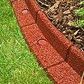 FlexiBorder–Rasenkante, wetterfest, sicher beim Rasenmähen, flexibel, für den Garden –6Längen x 1m von FlexiBorder bei Du und dein Garten
