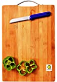 Yellow Weaves™ Eco-Friendly Premium Natural Bamboo/Wooden Cutting Board/Chopping Board for Kitchen with Handle