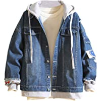Sunward Coat for Men,Men's Autumn Winter Casual Vintage Wash Distressed Denim Jacket Coat Top Blouse