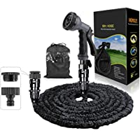 """HOMOZE 50ft Expandable Garden Water Hose Pipe with 3/4"""", 1/2"""" Fittings, Anti-leakage - Flexible Expanding Hose with 8…"""