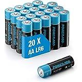 POWERADD Batterie Alcaline AA Confezione da 20 Pile Stilo AA da 1.5V