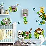 R00434 Stickers muraux Effet Tissu Doux décoration Murale bébé Nouveau-né pépinière Chambre Maternelle Papier Peint adhésif -