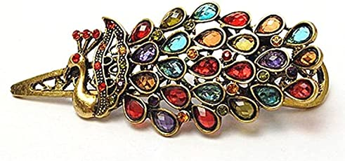 Cinderella Collection by Shining Diva Peacock Hair Accessories Hair Clip for Women and Girls(Multi-Colour)(1448hc)