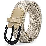 Braided Canvas Stretch Belt Elastic Casual Belt for Men/Women/Junior 1.3 Inch Wide by JasGood