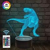 Dinosaurier Lampe, 3D Nachtlicht Kinder Nachtlicht, 7 Farben ändernde optische Täuschung 3D Kinder Lampe - perfekte Geschenke für Jungen, Mädchen an Weihnachten Geburtstag oder Urlaub