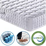 Vesgantti 4FT Small Double Mattress, 9.4 Inch Pocket Sprung Mattress Small Double with Breathable Foam and Individually Pocket Spring - Medium Plush Feel, Standard Tight Top Collection
