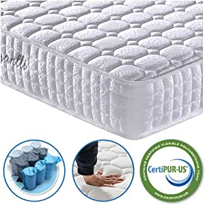 Vesgantti 3FT Single Mattress, 9.4 Inch Pocket Sprung Mattress Single with Breathable Foam and Individually Pocket Spring - Medium Plush Feel, Standard Tight Top Collection