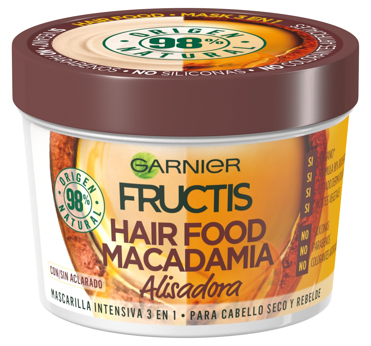 Mascarilla hair food fructos macadamia