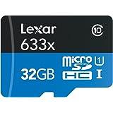 Lexar High-Performance microSDHC 633x 32GB UHS-I-Speicherkarten w/SD Adapter - LSDMI32GBBEU633A