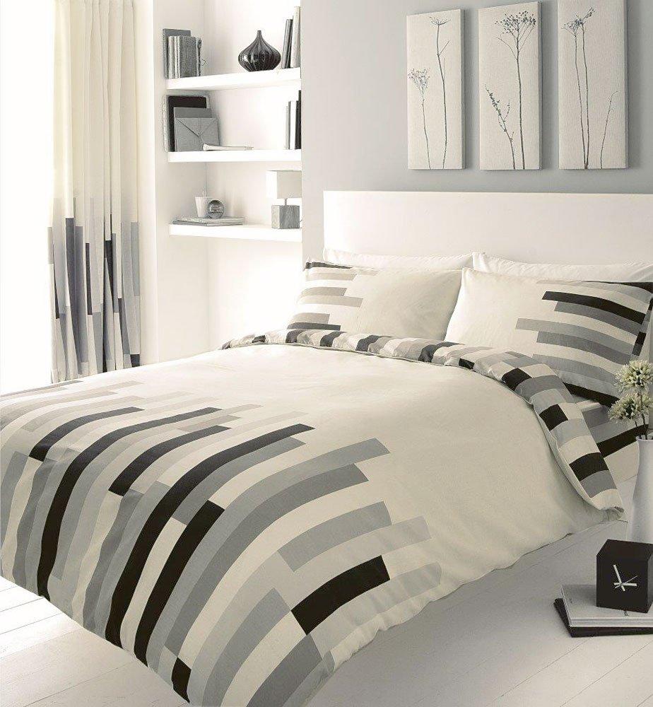 Homemaker Bedding Block Printed King Size Duvet Cover Bed Set ...