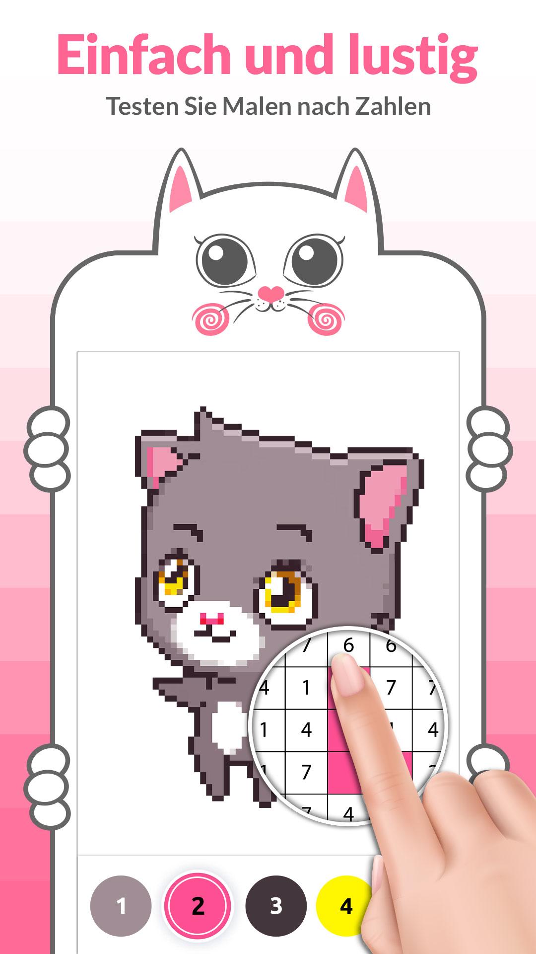 Malen Nach Zahlen Katze Ausmalbild Amazon De Apps Fur Android