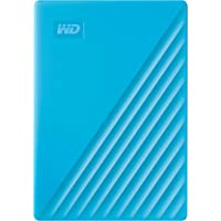 Western Digital WD 2TB My Passport Portable External Hard Drive, Blue - with Automatic Backup, 256Bit AES Hardware…