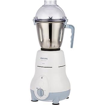 Philips HL1643/04 600-Watt Simply Silent Vertical Mixer Grinder with 3 Jars (White/Grey)
