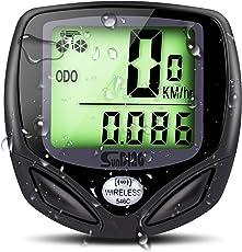 LOETAD Fahrradcomputer Fahrradtacho Drahtloser Speedometer Wasserdichter Kilometerzähler mit LCD Display