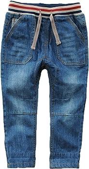 Echinodon Kinder Jeans Hose Jungen Leicht/Weich/Atmungsaktiv 100% Baumwolle Jeanshose