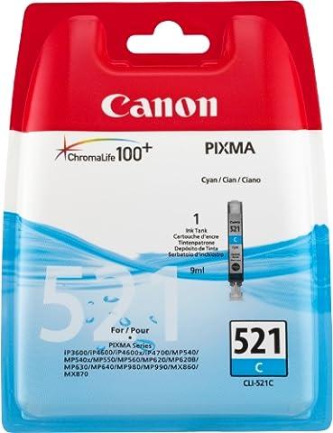 Canon - CLI-521C - Cartouche d'Encre d'Origine -