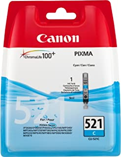 Canon CLI-521 C Cartucho de tinta original Cian para Impresora de Inyeccion de tinta Pixma MX860-MX870-MP540-MP540x-MP550-MP560-MP620-MP620B-MP630-MP640-MP980-MP990-iP3600-iP4600-iP4600x-iP4700 (B001EX1FRE) | Amazon price tracker / tracking, Amazon price history charts, Amazon price watches, Amazon price drop alerts