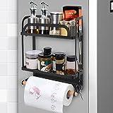 Lemecima Étagère Réfrigérateur Magnétique Étagère à Épices Magnétique Étagère de Rangement Porte-Épices Idéal pour Réfrigérat