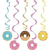 Creative Converting 324238 Party Dizzy Danglers Lot de 5 Donuts colorés à Suspendre, Multicolore