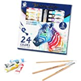 TBC The Best Crafts - Pittura a forma di guazzo in tubo, 24 colori, acquerello per artisti, professionisti, appassionati, bam