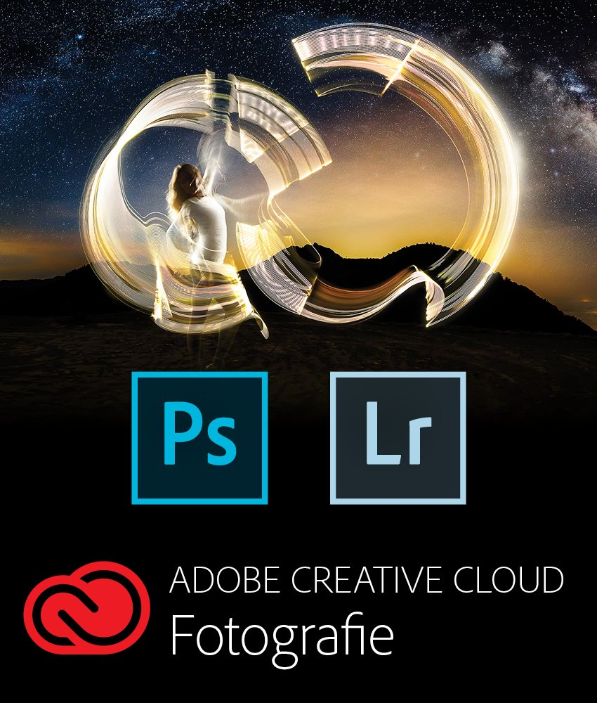 Adobe Creative Cloud Foto-Abo mit 20GB: Photoshop CC und Lightroom Classic CC | 1 Jahreslizenz | Mac Online Code & Download