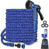 """100Ft Expandable Garden Hose Pipe,Flexible Expanding Magic Hose with 3/4"""", 1/2"""" Fittings,Garden Hose with 7 Function Spray No"""