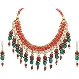 Zephyrr - Set di collana con perline tibetane originali da donna, fatto a mano, alla moda