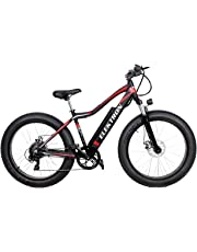 Elektron Cycles Aluminium-Alloy M5X-Electric Fat Bicycle (Matte Black with Red Accents)