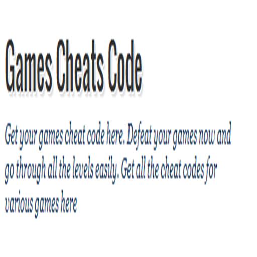 Games Cheat Code