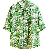 CAOQAO Camisa Hombre Hawaiana Verno Manga Corta Fashion Rayas ...