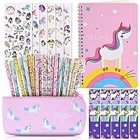 Faburo Cancelleria per Unicorno, 20pz Penne per Unicorno Simpatico Regalo, 1pz Notebook per Materiale Scolastico, 6pz…