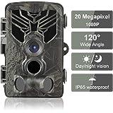 Caméra de Chasse 20MP 1080P IP65 Étanche, Caméra Surveillance avec 44Pcs LED Vision Nocturne Infrarouge Jusqu'à 80FT et Grand Angle 120°