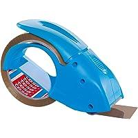 Dérouleur Manuel Pack'n'go Ergonomique pour rouleaux d'emballage - Livré avec un ruban adhésif de 50 m x 48 mm - Bleu