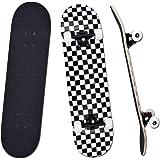 """YUDOXN Completo Skateboard para Principiantes, Adolescentes, niños, niñas.31""""x 8"""" Skateboard 7 Capas Monopatín de Madera de A"""
