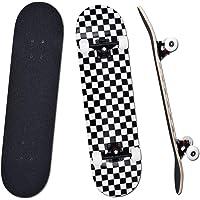"""YUDOXN Completo Skateboard per Principianti, Bambini, Giovani e Adulti. skateboard adulto. 31 """"x 8"""" skateboard 7 Strati…"""