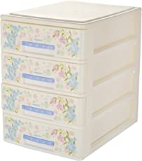 Nayasa Deluxe Tuckins-14 Plastic Storage Drawer, 4 Drawers