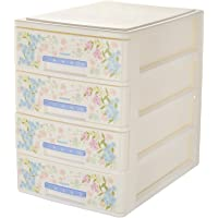 Nayasa Tuckins Deluxe No. 14 Plastic Storage Drawer, 4 Drawers, White