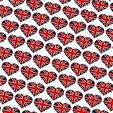 0,5m Patchwork-Stoff Union-Jack Herz London London-Style