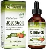 Jojobaöl - 120 ml - 100% ORGANISCH zertifiziert - Bester natürlicher Öl-Feuchtigkeitsspender für strahlende Haut, seidenweiche Haare und starke Nägel - Ideal für empfindliche Haut - Rundum Schutz Tag & Nacht - Kaltgepresst & Unraffiniert