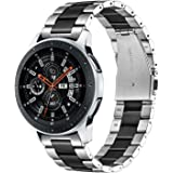 TRUMiRR Galaxy Watch 46mm/ Gear S3 Classic/Gear S3 Frontier Armband Metall, 22mm Solide Edelstahl Uhrenarmband Quick Release Armband für Samsung Galaxy Watch 46mm