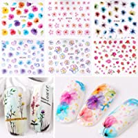 HapBest 3D Nail Art Transfer Stickers 1 Sheets Flower Decals Manicure Decoration Tips