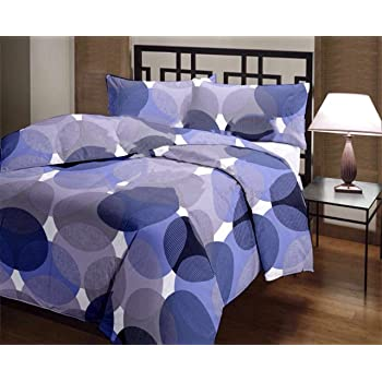 RajasthaniKart Polyester Blend Reversible Single Bed AC Blanket/ Quilt/Top Sheet/Dohar, 82X54 Inches(Blue)